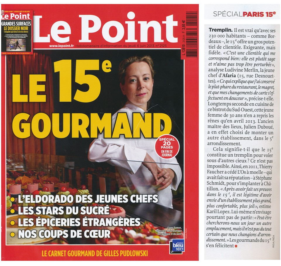 Afarian article dans Le Point